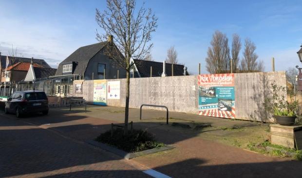 <p>De plek van de oude Plus in De Cocksdorp waar het hotel was beoogd.</p>