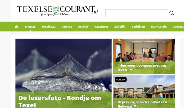 Website Texelse Courant.