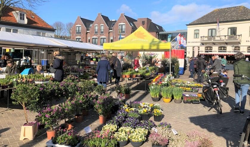 De warenmarkt in Den Burg.