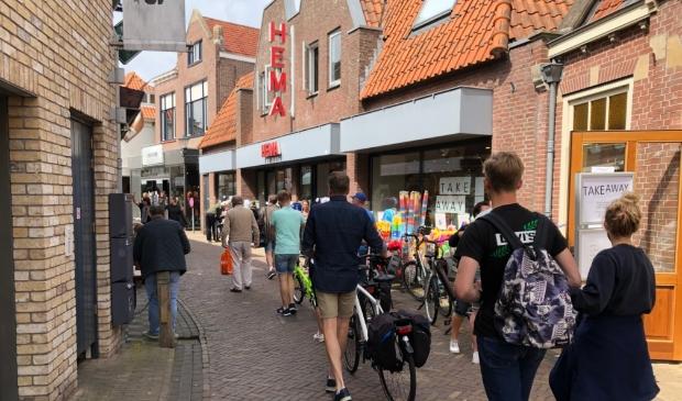 De Weverstraat in Den Burg vrijdag aan het begin van de middag.