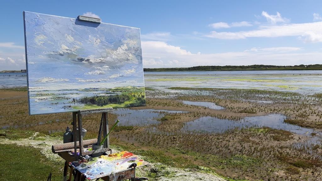 Sonja Brussen schildert buiten en exposeert in Galerie Posthuys Foto: Sonja Brussen © Mediabureau Langeveld & De Rooy