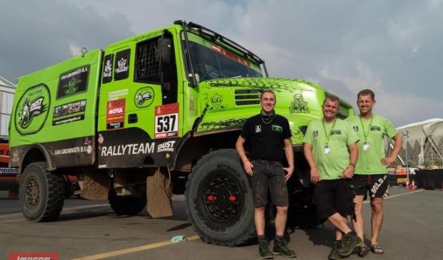 Co de Wit (L) debuteert in Rally Parijs-Dakar