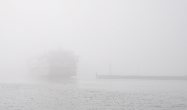 <p>De Texelstroom in de mist.</p>