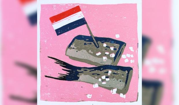 Yvonne Zomerdijk: Haring (kartondruk) in Galerie Posthuys