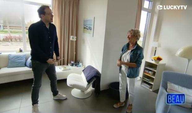 <p>Theo-Bert Pot en Hannie Evers in Lucky TV.</p>