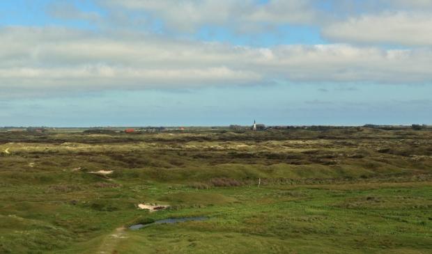 Uitzicht op het kerkje van Den Hoorn.