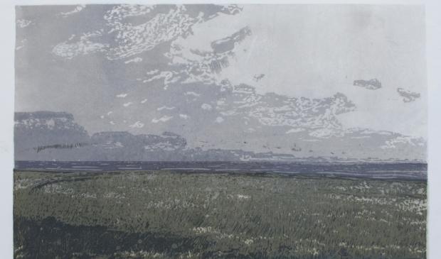 Dimitri Feenstra: De Schorren (houtsnede) in Galerie Posthuys