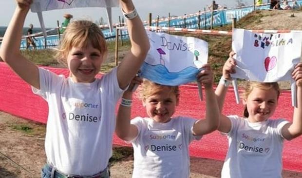 <p>Ondanks aanmoedigingen van deze jonge fans wist Denise vandaag niet te winnen.&nbsp;</p>