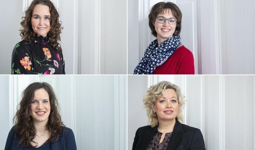 De vier Friese advocaten van Kooi: Chantal Bosch, Baukje Hiemstra, Sjoertje Bergsma en Baukje Kooi.