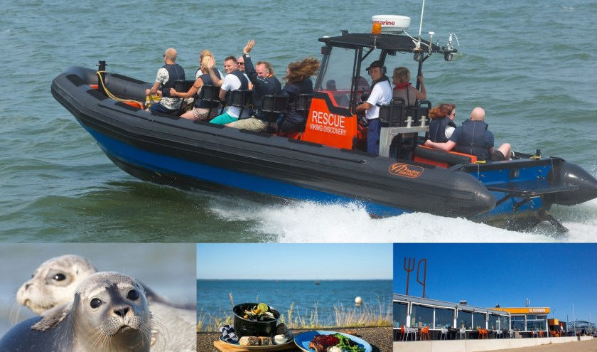 Tegenover De Noorman is de opstapplaats voor de rescueboottochten naar bijvoorbeeld de zeehondenrustplaatsen.