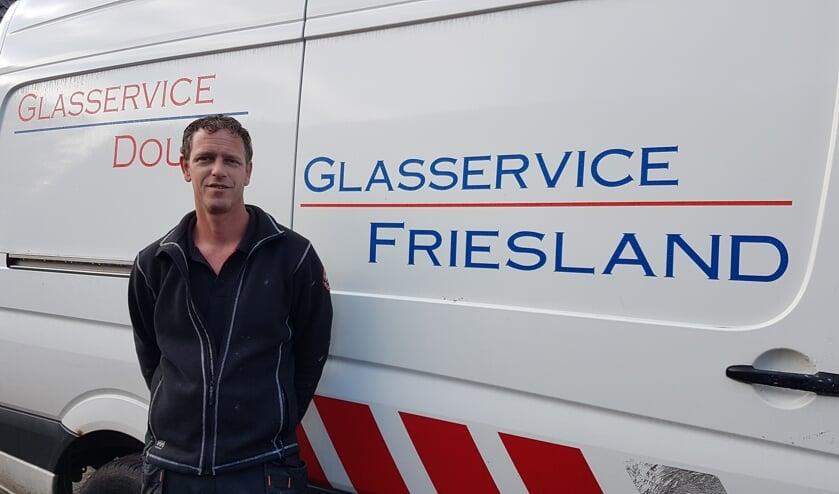 Douwe de Vries van Glasservice  Friesland.