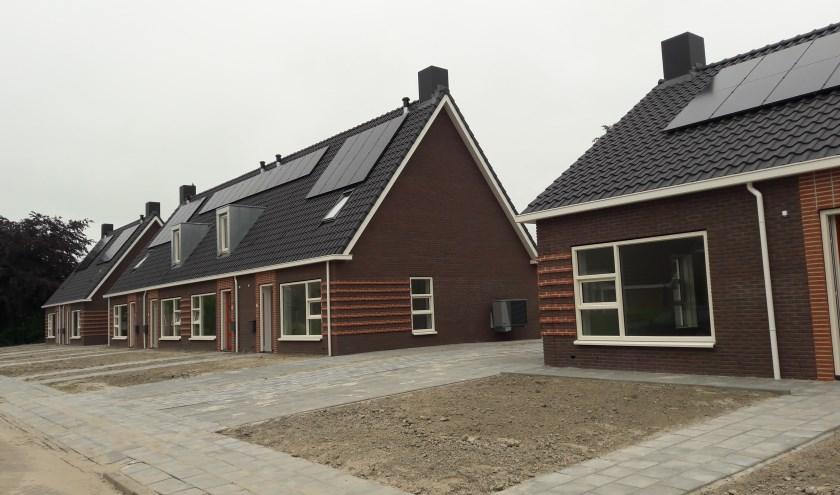 In de Gasthuisstraat in Ferwert heeft Wonen NW Friesland dit jaar nog wel nieuwbouwwoningen kunnen opleveren.