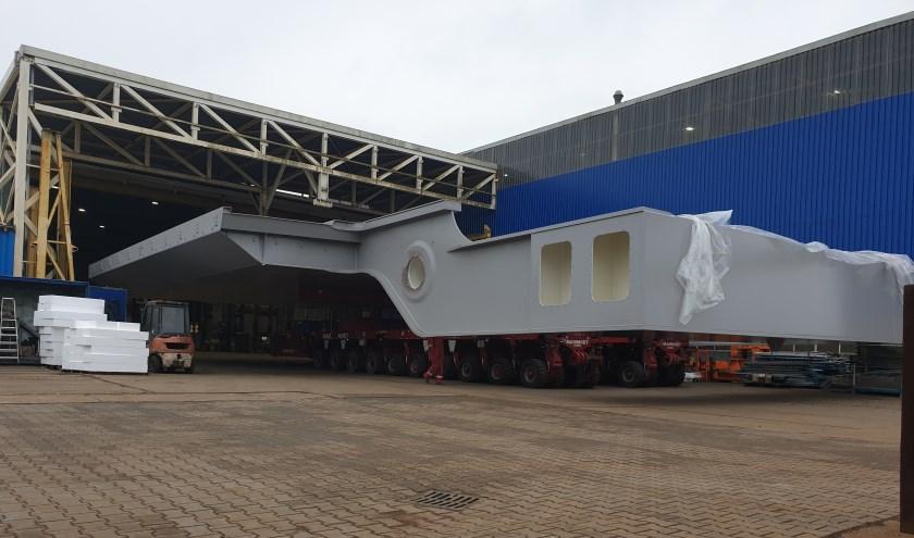 De nieuwste brug gemaakt door Solidd Steel Structures in Sumar, bijna klaar voor transport.