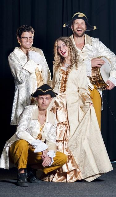 De voorstelling 'De Koning van zijn troon' is een sing-a-long familievoorstelling met live-muziek.