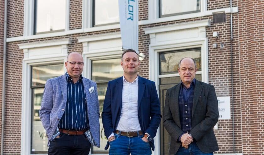 De adviseurs van Credion Friesland voor het kantoor in Leeuwarden: Ronald Seinen, André Spa en René van de Graaf.