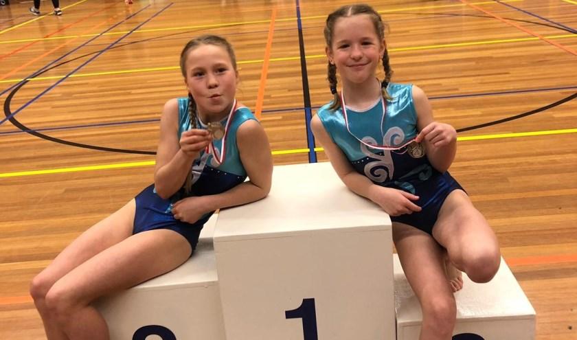 Anouk Delfstra en Anneke Wellinga wonnen zilver.