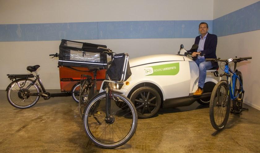 Je kunt fietsen in soorten en maten leasen via Lease Fiets van Friesland Lease in Drachten. Reinier Boxum zit op een Tripl.