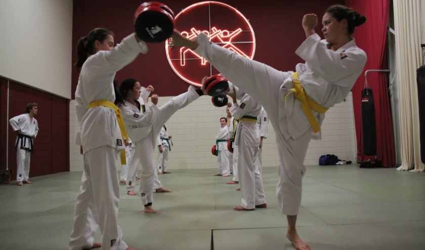 Taekwondoka's beschikken over veel kracht, techniek, snelheid en behendigheid.