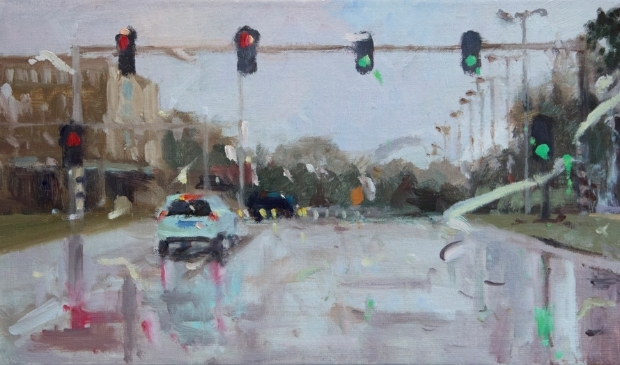 <p>Een schilderij van Melda Wibawa met de titel: Rain on me.</p>