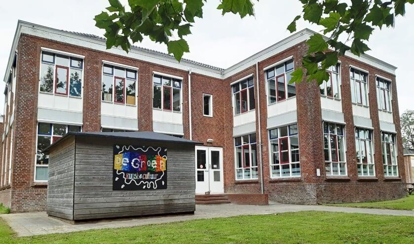 <p>De school waarin De Groen Kunst en Cultuur is gevestigd.</p>