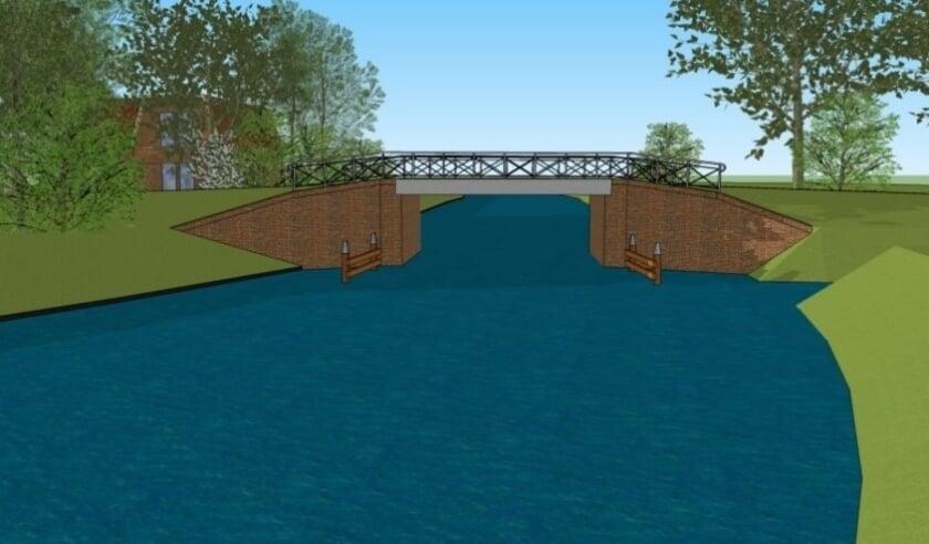 <p>Het ontwerp van de nieuwe brug in Ezumazijl.</p>