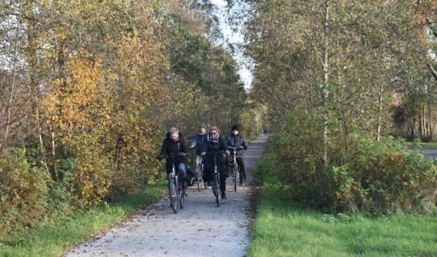 <p>Vier fietsers naderen vanaf Twijzel knooppunt 74, de kruising met Wyldpead West.</p>