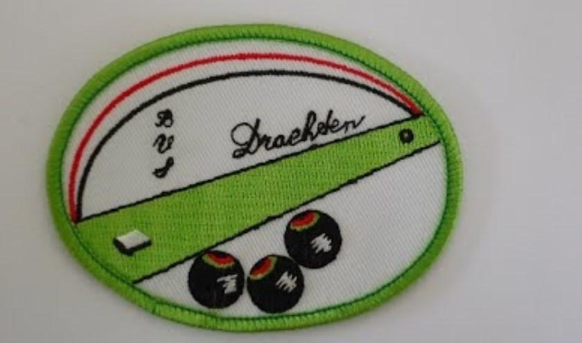 Het logo van de bowlsvereniging, die een toernooi organiseert in Drachten.