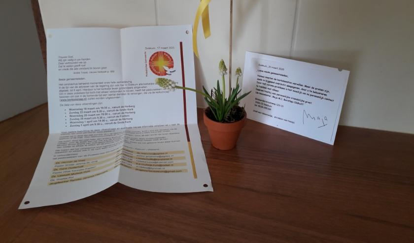 Met een pastorale brief worden de gemeenteleden bemoedigd.