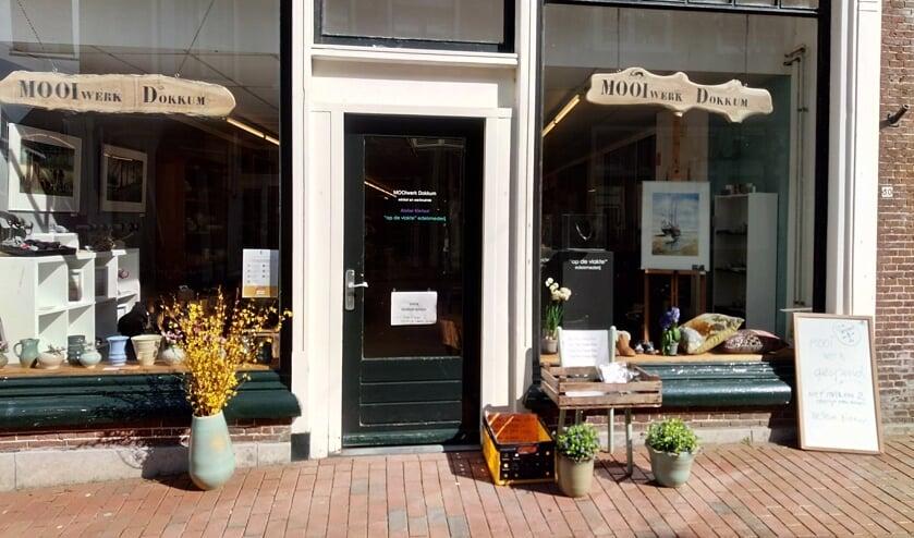De winkel van MOOIwerk aan de Hoogstraat in Dokkum gaat  sluiten.