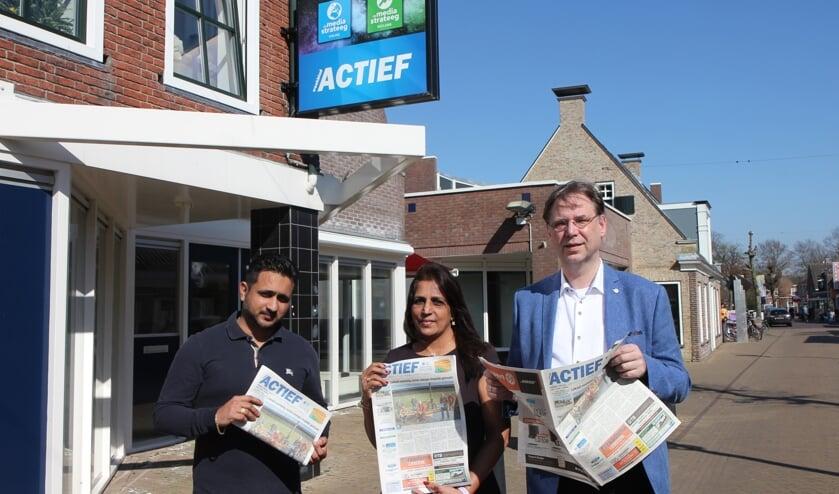 De directie van Actief Media: Vishal Bhagwat, Shirley Bhagwat en Jan Auke Steegstra  Jan Auke Steegstra.