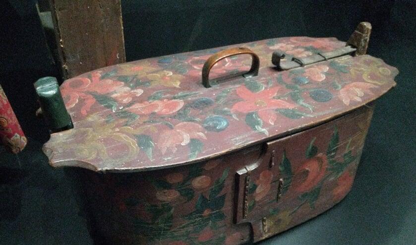 Een reiskoffer uit vroegere tijden.