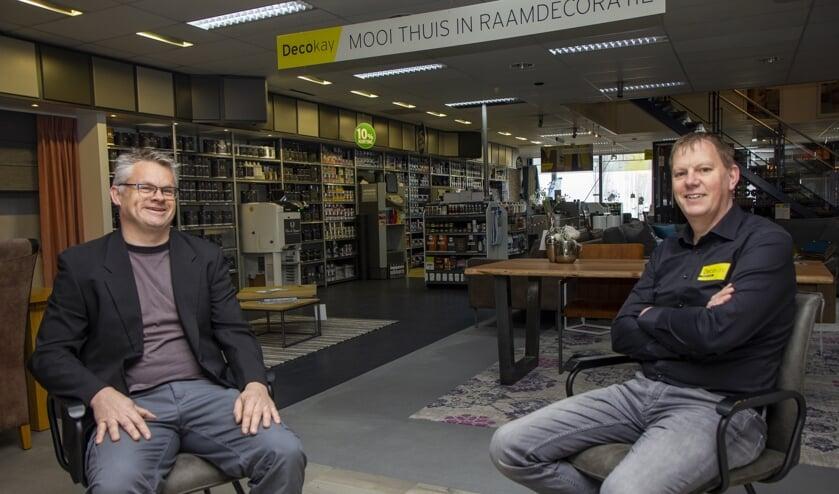Tjibbe Bos en Marco Slump vieren dit jaar het 20 jarig bestaan van hun zaak, Decokay Drachten.