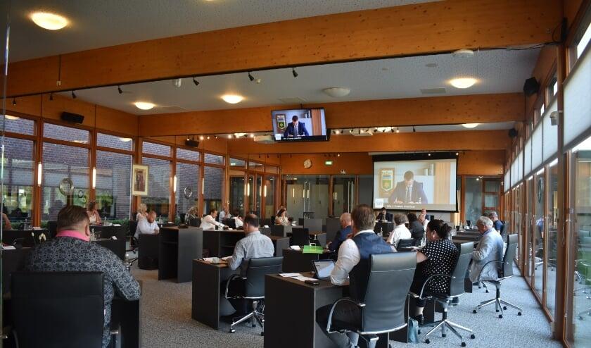 De gemeenteraad van Noardeast-Fryslân vergaderde donderdag 'coronaproof' in Kollum.