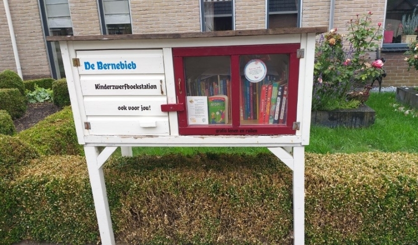 Het Kinderzwerfboekstation in Garyp.