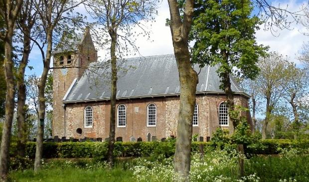 Het kerkje van Westernijkerk waar werd ingebroken.