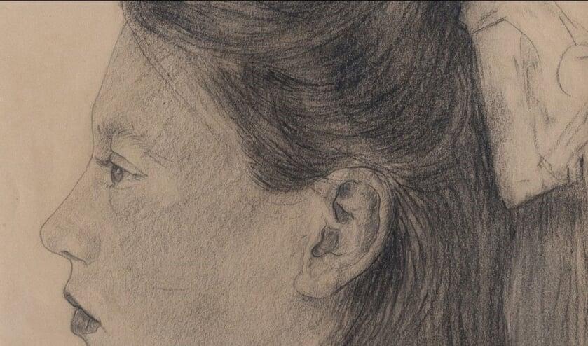 De portrettekening van Nelli de Vrieze van Thijs Rinsema,