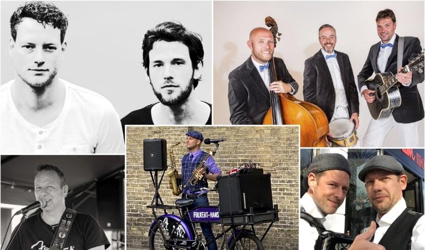 <p>Bovenstaande artiesten traden in september en begin oktober op in het Burgumer centrum.</p>