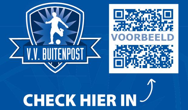Bezoekers registreren zich via een QR-code.