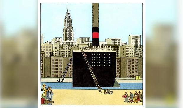 Detail van striptekening Joost Swarte.