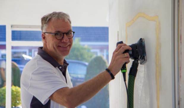 <p>Freerk Jan Rijpkema bij een project in Drachten.</p>