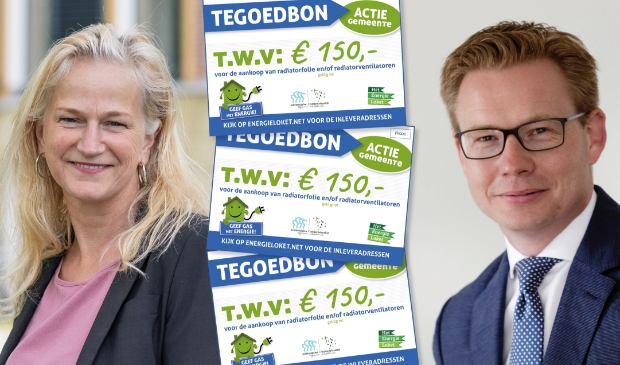 "<p>Wethouders Margreet Jonker en Andries Bouma: ""Tegoedbonnen helpen energierekening omlaag te brengen""</p>"