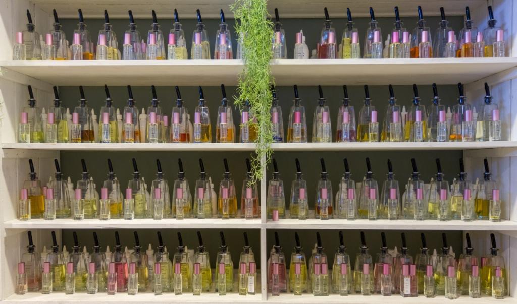 De kast met parfums van TapParfum. Foto: Actief Media © Actief Media