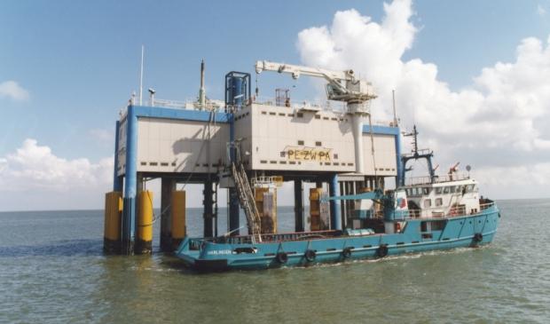 <p>Een gasproductielocatie van Vermilion op de Waddenzee.</p>