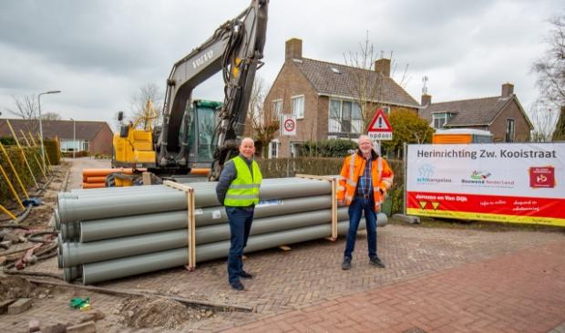 Op de foto wethouder Max de Haan en Gerard Jansma, mede eigenaar van Jansma van Dijk