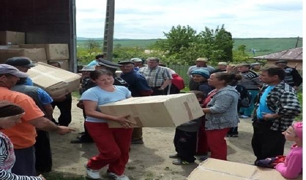 <p>Het leveren van hulpgoederen in Roemeni&euml;.</p>
