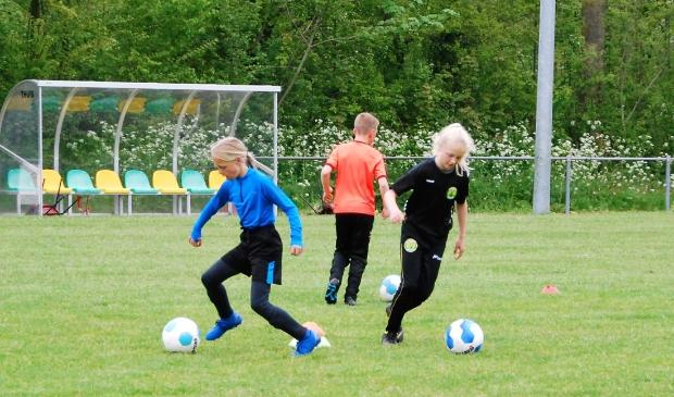 <p>Meisjes en jongens van Ropta Boys krijgen techniektraining onder leiding van de hoofdtrainer en selectiespelers.</p>