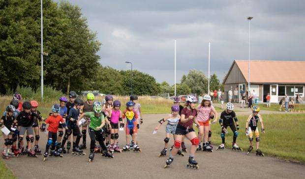 Skeeleren en skaten worden steeds populairder, ook in Surhuisterveen.