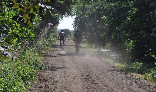 Dit soort paden maakt deel uit van de tocht op 31 juli.