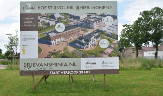 Het Van Sminiaplein in Burgum, en hoe het er in de toekomst uit moet zien.