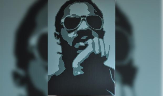 <p>Stevie Wonder, één van de popiconen in de expositie.</p>